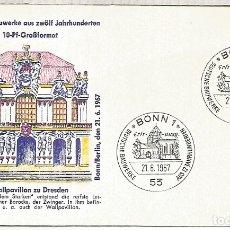 Timbres: ALEMANIA FDC BONN 1967 ARQUITECTURA DRESDEN. Lote 176971943