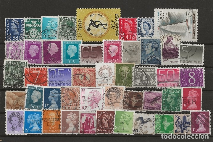 R8/ BONITO LOTE DEL MUNDO, USADOS, 48 SELLOS (Sellos - Historia Postal - Sellos otros paises)