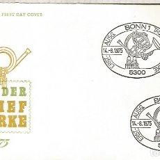 Sellos: ALEMANIA FDC BONN 1975 DIA DEL SELLO STAMP DAY. Lote 179065977