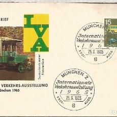 Sellos: ALEMANIA FDC BONN 1965 TRANSPORTE AUTOBUS BUS . Lote 179066406