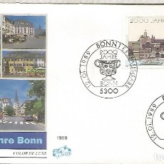 Sellos: ALEMANIA FDC BONN 1989 2000 JAHRE BONN ARQUITECTURA. Lote 179067571