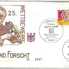 Sellos: ALEMANIA FDC BONN 1990 JUGEND FORSCHT CIENCIA. Lote 179067812