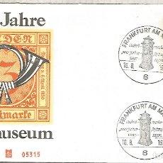 Sellos: ALEMANIA FDC FRANKFURT 1972 100 AÑOS MUSEO POSTAL MUSEUM. Lote 179067970
