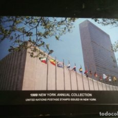 Sellos: NACIONES UNIDAS, EMISIÓN OFICINA ANUAL NUEVA YORK 1989. SELLOS NUEVOS COLECCION ONU. Lote 181860503