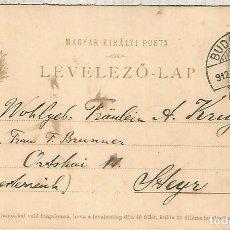 Sellos: HUNGRIA ENTERO POSTAL 1912 BUDAPEST. Lote 181865597