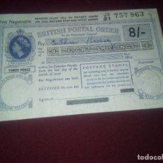 Sellos: REINO UNIDO. BRITISH POSTAL ORDER. 1960. Lote 182632617
