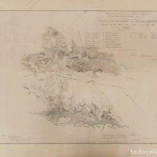 Sellos: EJÉRCITOS FRANCESES, BIBLIOGRAFÍA. 1830. SKETCH OF PARTS OF THE GROUND ABOUT FUENTES AND VILLA FORM. Lote 183163561