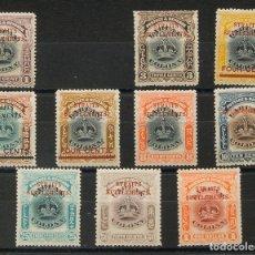 Sellos: MALASIA-MALACCA. MH *YV 109, 111/19. 1907. SERIE COMPLETA, A FALTA DEL 2 CTS (VALOR CLAVE). MAGNIFI. Lote 183164041
