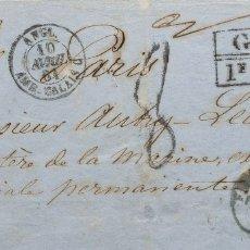 Sellos: FERNANDO POO. SOBRE . 1861. FERNANDO POO A PARIS (FRANCIA), CIRCULADA VÍA LONDRES. FECHADOR FERNAND. Lote 183164167