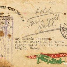 Sellos: CORREO AÉREO ACCIDENTADO. SOBRE AÉREO 20. 1931. ACCIDENTE AÉREO OCURRIDO EL 19 DE ENERO DE 1931 EN. Lote 183165041