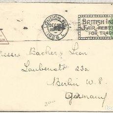 Sellos: REINO UNIDO 1926 ENTERO POSTAL CON MAT BRITISH INDUSTRIES FAIR . Lote 183317230