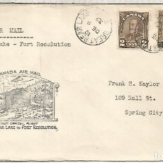 Sellos: CANADA PRIMER VUELO 1932 GREAT BEAR LAKE TO FORT RESOLUTION. Lote 183409798