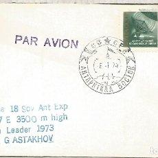 Sellos: UNION SOVIETICA CC CON MAT BASE ANTARTICA VOSTOK 1974 ANTARCTIC STATION . Lote 183413917
