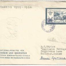 Sellos: UNION SOVIETICA CC CON MAT BASE ANTARTICA 1965 ANTARCTIC STATION . Lote 183414671