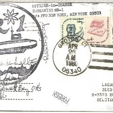 Sellos: ESTADOS UNIDOS USA CC SUBMARINO NR 1 GROTON 1980 SUBMARINE NUCLEAR . Lote 183415025