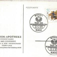 Sellos: ALEMANIA BONN 1979 WAHL DES BUNDESPRASIDENTEN. Lote 183415328