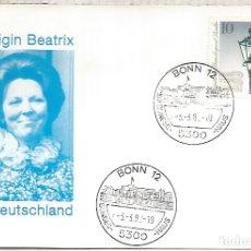 Sellos: ALEMANIA BONN 1982 VISITA REINA BEATRIZ DE HOLANDA NEDERLAND QUEEN ROYAL VISIT. Lote 183415513