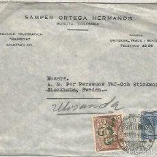 Sellos: COLOMBIA 1945 SEGUNDA GUERRA MUNDIAL WW2 SELLO SOBRECARGA ROOSEVELT STALIN CHURCHILL. Lote 183416582