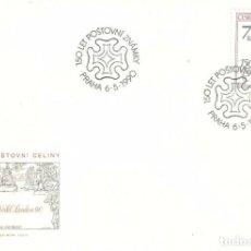 Selos: SOBRE 1ER DIA CHECOSLOVAQUIA,1990, CAT. YT. 2848. Lote 185937850