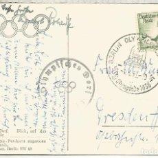 Sellos: ALEMANIA 3 REICH JUEGOS OLIMPICOS DE BERLIN 1936 MAT OLYMPISCHES DORF Y MARCA ESPECIAL. Lote 187360910