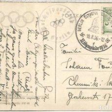 Sellos: ALEMANIA 3 REICH JUEGOS OLIMPICOS DE BERLIN 1936 MAT NATACION MARCA ESPECIAL. Lote 187367080