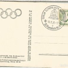 Sellos: ALEMANIA 3 REICH JUEGOS OLIMPICOS DE BERLIN 1936 MAT OLYMPILAGER. Lote 187368868