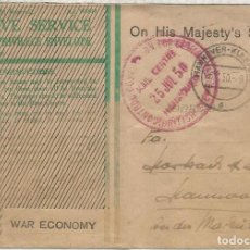 Sellos: GRAN BRETAÑA ALEMANIA CORREO MILITAR 1950 HANNOVER CONTROL COMISSION FOR GERMANY BRITISH FORCES . Lote 187372100