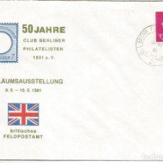 Sellos: GRAN BRETAÑA ALEMANIA CORREO MILITAR 1981 MACHIN BRITISH FORCES BERLIN. Lote 187372926