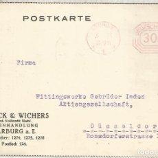 Sellos: ALEMANIA 1923 HARBURG FRANQUEO MECANICO METER HIPERINFLACION. Lote 187374416