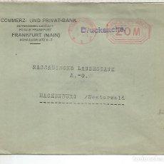 Sellos: ALEMANIA 1923 FRANKFURT FRANQUEO MECANICO METER HIPERINFLACION. Lote 187374545