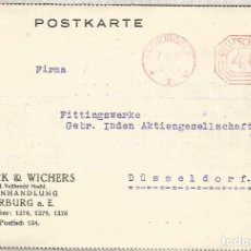 Sellos: ALEMANIA 1923 HARBURG FRANQUEO MECANICO METER HIPER INFLACION. Lote 187376002