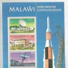 Sellos: MALAWI HOJITA SELLOS ESPACIO TELECOMUNICACIONES TELECOM SATELLITE . Lote 187376781