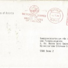Sellos: ALEMANIA BONN 1989 FRANQUEO MECANICO FOREIGN SERVICE OF THE UNITED STATES ARMY ATTACHE. Lote 187378495