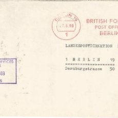 Sellos: ALEMANIA BERLIN 1969 FRANQUEO MECANICO BRITISH FORCES BERLIN . Lote 187378678