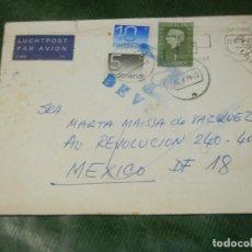 Sellos: SOBRE CIRCULADO HOLANDA A MEXICO Y DEVUELTO 1978-1979. Lote 187540753