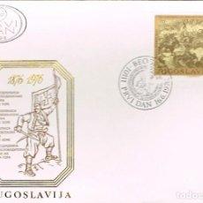 Sellos: YUGOESLAVIA Nº 1682 - CENTENARIO DE LA INSURRECCION DE MONTENEGRO, PRIMER DIA DE 16-6-1976. Lote 190850510