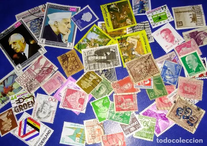LOTE OFERTA DE 50 SELLOS DEL MUNDO TODOS DISTINTOS SIN REPETIR (Sellos - Historia Postal - Sellos otros paises)