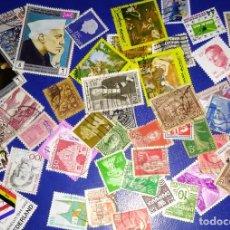 Sellos: LOTE OFERTA DE 50 SELLOS DEL MUNDO TODOS DISTINTOS SIN REPETIR. Lote 192286533
