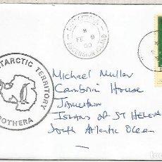 Sellos: BRITISH ANTARCTIC TERRITORY ROTHERA BASE A ASCENSION ISLAND CON LLEGADA ANTARCTIC. Lote 194141125