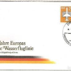 Sellos: ALEMANIA DDR DRESDEN LINEA AEREA DRESDEN MAGDEBURG ALTONA HIDROAVION SEAPLANE. Lote 194989748