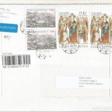 Sellos: REPUBLICA CHECA CC CERTIFICADA SELLOS SANTOS CIRILO Y METODIO RELIGION. Lote 194991023