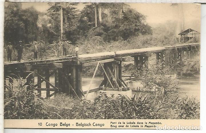 CONGO BELGA ENTERO POSTAL PUENTE BRIDGE (Sellos - Historia Postal - Sellos otros paises)