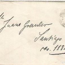 Francobolli: CHILE ENTERO POSTAL COLON A SANTIAGO 1895. Lote 195545790