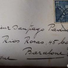 Sellos: CURIOSO MINI SOBRE ENVIADO EN 1940 DESDE BELGICA A BARCELONA CON SELLO DE SENSURA MILITAR C311. Lote 197962161