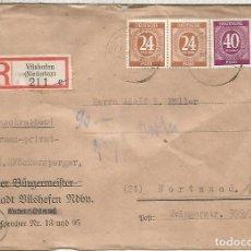 Sellos: ALEMANIA OCUPACION VILSHOFEN CERTIFICADA A DORTMUND 1946. Lote 199200052