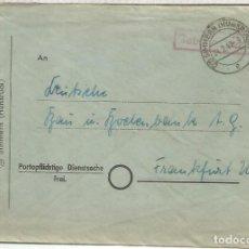 Sellos: ALEMANIA OCUPACION SIMMERN 1947 A FRANKFURT GEBÜHR BEZALTH. Lote 199201066