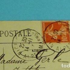 Sellos: FRANCIA. POSTAL CIRCULADA MATASELLO CIRCULAR FECHADOR. 1914. Lote 199270821