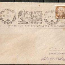 Sellos: ALEMANIA IMPERIO.1938.MI 482,484. MATASELLOS. NURNBERG CIUDAD DEL PARTIDO NACIONAL ALEMÁN. Lote 199657530