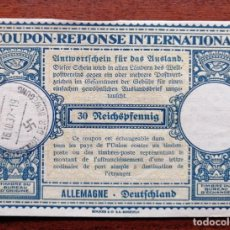 Sellos: COUPON-REPONSE INTERNATIONAL. ALEMANIA. MUNICH, 16 OCTUBRE DEL 1937. Lote 199724358