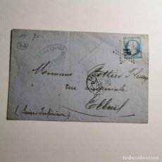 Sellos: ANTIGUA CARTA - CARTA FRANCESA - SELLO 20 CENTIMOS IMPERIO FRANCES - AÑO 1865 / 33. Lote 199831833